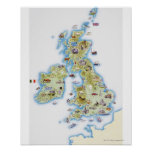 Map of British Isles Poster