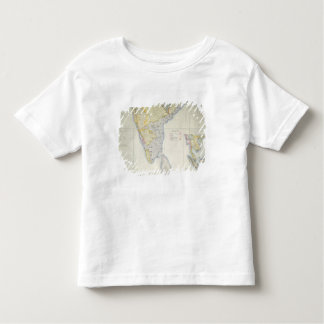 Map of British Southern India, 1872 Toddler T-Shirt