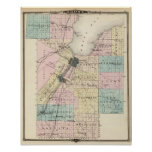 Map of Brown County, State of Wisconsin Poster