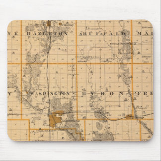 Map of Buchanan County, State of Iowa Mouse Mat