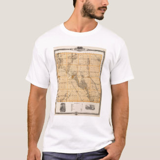 Map of Buchanan County, State of Iowa T-Shirt