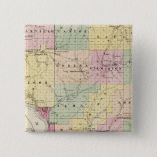 Map of Buffalo County and Village of Alma 15 Cm Square Badge