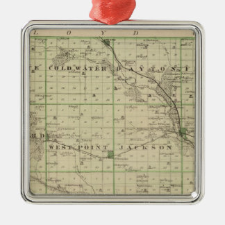 Map of Butler County, State of Iowa Christmas Ornament