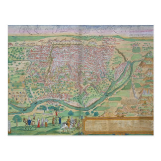 Map of Cairo, from 'Civitates Orbis Terrarum' by G Post Card
