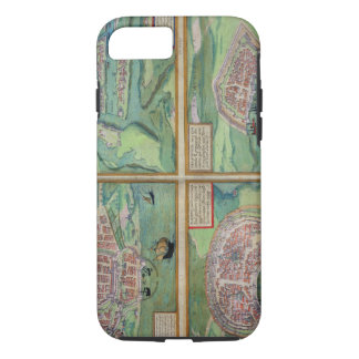 Map of Calais, Malta, Rhodes, and Famagusta, from iPhone 8/7 Case