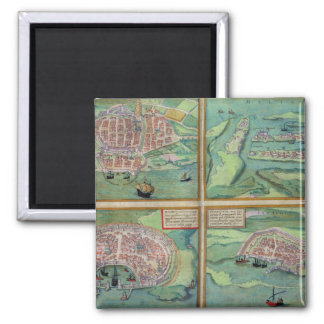 Map of Calais, Malta, Rhodes, and Famagusta, from Magnet