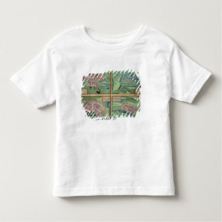 Map of Calais, Malta, Rhodes, and Famagusta, from Toddler T-Shirt