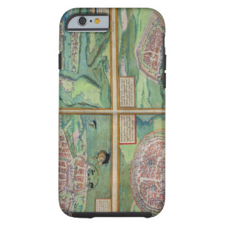 Map of Calais, Malta, Rhodes, and Famagusta, from Tough iPhone 6 Case