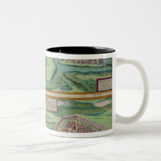 Map of Calais, Malta, Rhodes, and Famagusta, from Two-Tone Coffee Mug