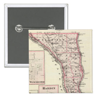 Map of Calhoun County, Winchester 15 Cm Square Badge