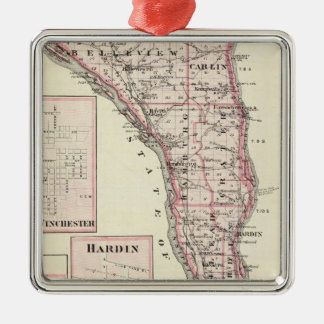 Map of Calhoun County, Winchester Christmas Ornament