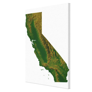 Map of California 2 Canvas Print