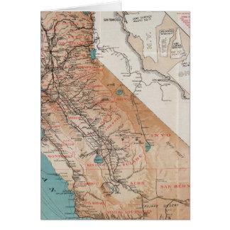 Map of California 2 Card