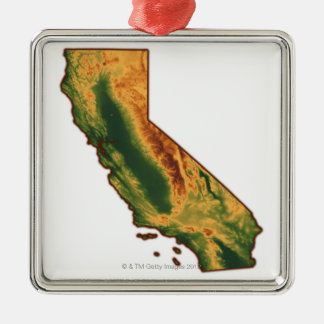 Map of California 2 Christmas Ornament