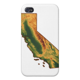 Map of California 2 iPhone 4 Cover