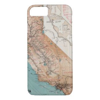 Map of California 2 iPhone 8/7 Case