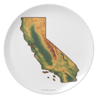 Map of California 2 Plate