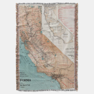 Map of California 2 Throw Blanket