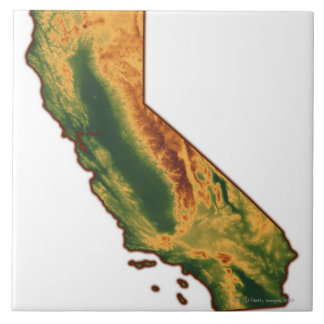 Map of California 2 Tile