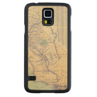 Map of California 4 Carved Maple Galaxy S5 Case