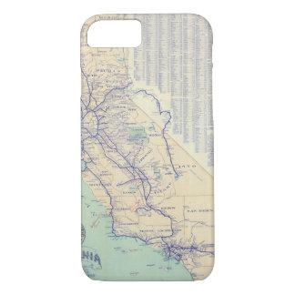 Map of California 4 iPhone 8/7 Case