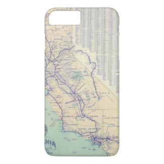 Map of California 4 iPhone 8 Plus/7 Plus Case