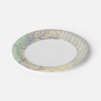 Map of California 4 Paper Plate