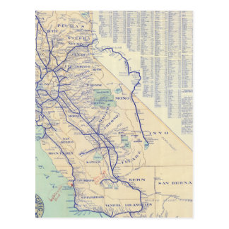 Map of California 4 Postcards