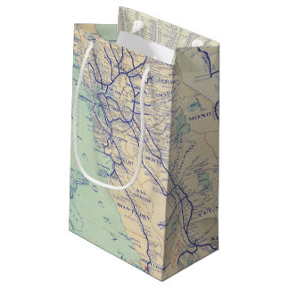 Map of California 4 Small Gift Bag