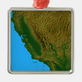 Map of California and Nevada 2 Christmas Ornament