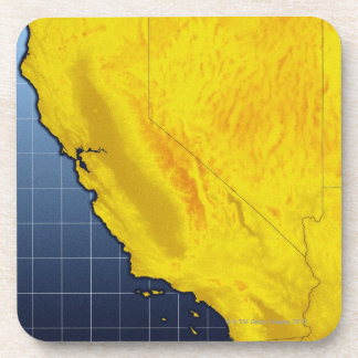 Map of California and Nevada Beverage Coasters