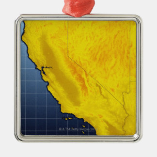 Map of California and Nevada Christmas Ornament