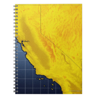 Map of California and Nevada Spiral Note Book