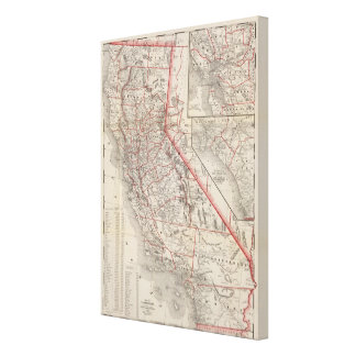 Map of California Gallery Wrap Canvas