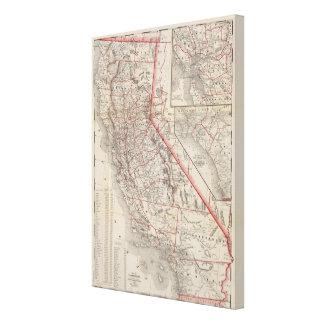 Map of California Canvas Print