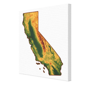 Map of California Canvas Prints