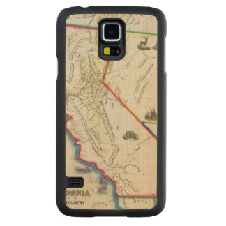Map of California Carved Maple Galaxy S5 Case