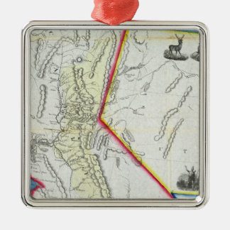 Map of California Christmas Ornament