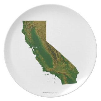 Map of California Dinner Plates