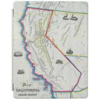 Map of California iPad Cover