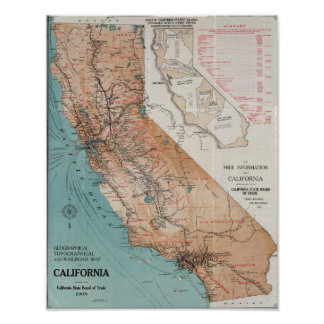 Map of California Poster