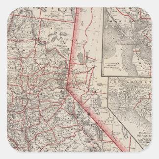 Map of California Square Sticker