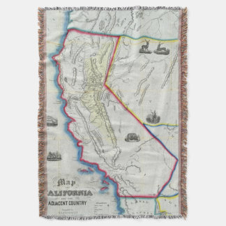 Map of California Throw Blanket