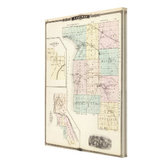 Map of Calumet County, State of Wisconsin Canvas Print