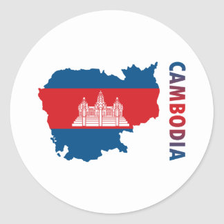Map Of Cambodia Classic Round Sticker