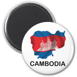 Map Of Cambodia Magnet