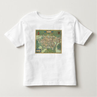 Map of Cambrai, from 'Civitates Orbis Terrarum' by Toddler T-Shirt