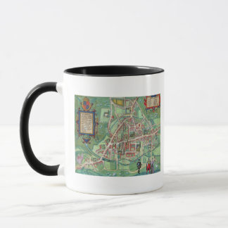 Map of Cambridge, from 'Civitates Orbis Terrarum' Mug
