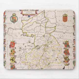 Map of Cambridgeshire, published Amsterdam c.1647- Mouse Mat