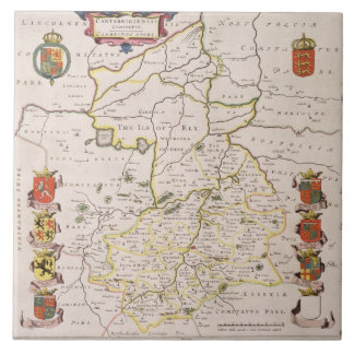 Map of Cambridgeshire, published Amsterdam c.1647- Tile